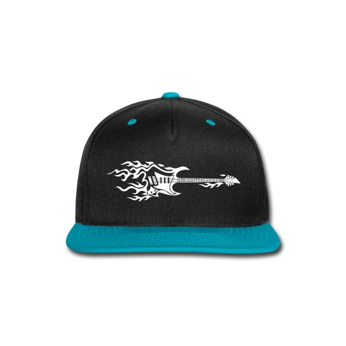 Electric Guitar Fire Illustration - Snap-back Baseball Cap