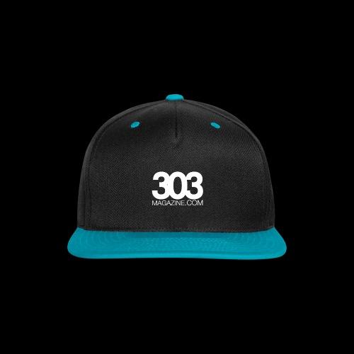 303 Magazine — White Logo - Snap-back Baseball Cap