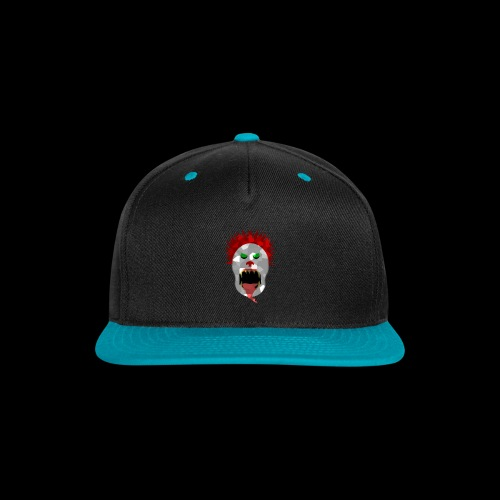 creepy clown Halloween design - Snap-back Baseball Cap