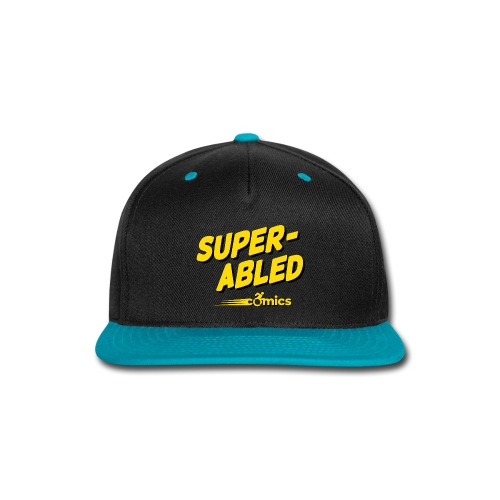 Super-Abled Comics - yellow/black - Snap-back Baseball Cap