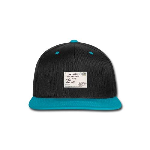 Zalex - Bad Decisions - Snap-back Baseball Cap