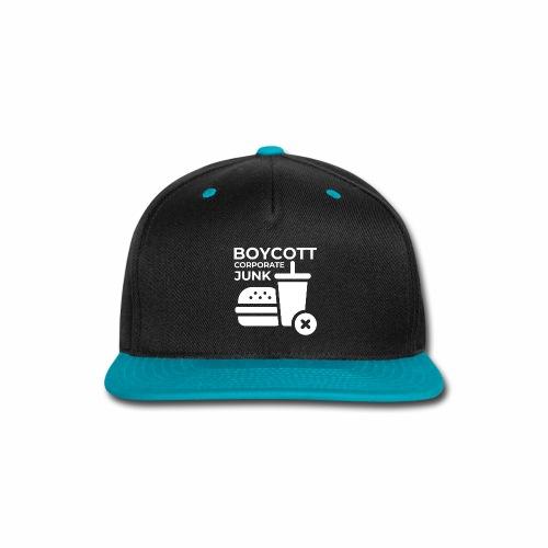 Boycott corporate junk - Snap-back Baseball Cap