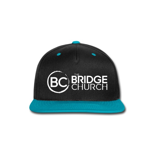 Finalized Bridge Church Logo White Sideways - Snap-back Baseball Cap