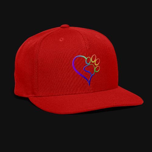 Paw Print on my Heart Rainbow Bridge - Snap-back Baseball Cap