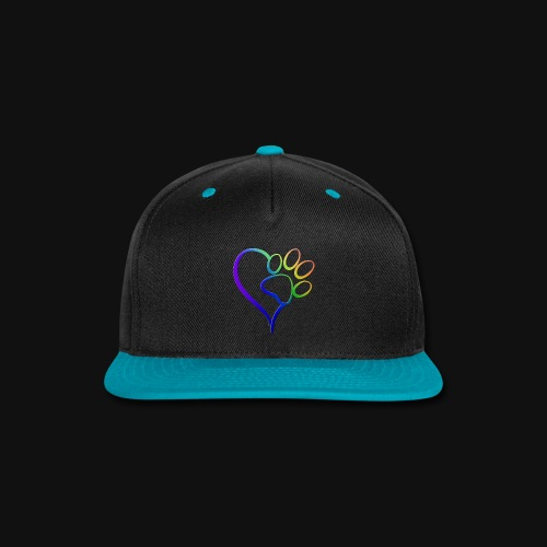 Paw Print on my Heart Rainbow Bridge - Snap-back Baseball Cap