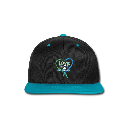 Down Syndrome Love (Blue/White) - Snap-back Baseball Cap