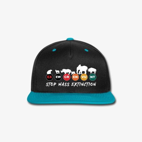 Stop mass extinction ! - Snap-back Baseball Cap