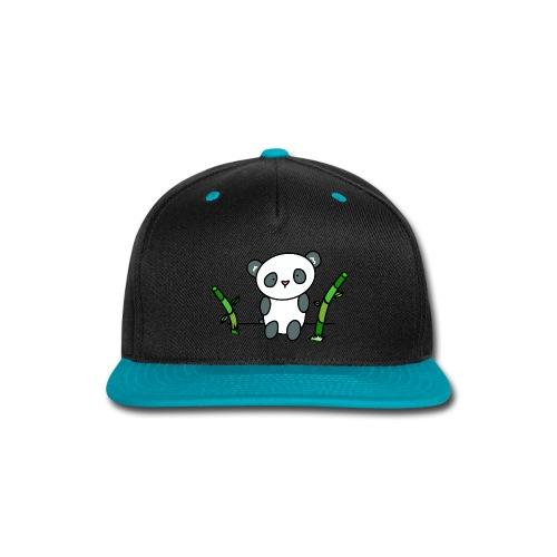 Panda with Bamboo - Snap-back Baseball Cap