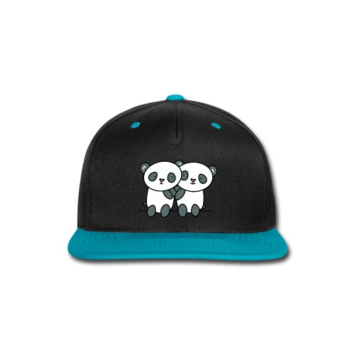 Cute Pandas Hugging - Snap-back Baseball Cap