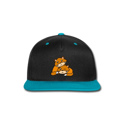 Cute Foxes Hugging - Snap-back Baseball Cap