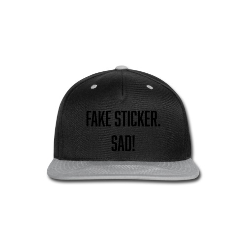 fake sticker - Snap-back Baseball Cap