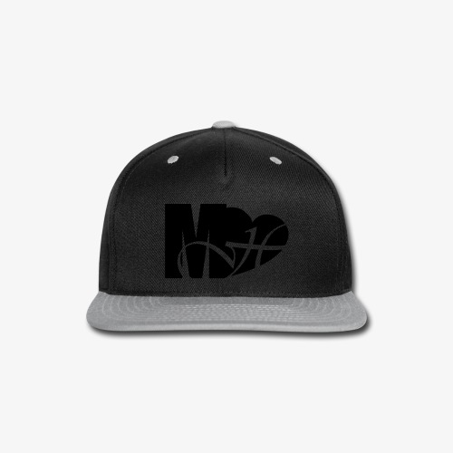Mo Heart Solid White - Snap-back Baseball Cap