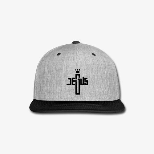 Jesus Name Cross Crown - Snap-back Baseball Cap
