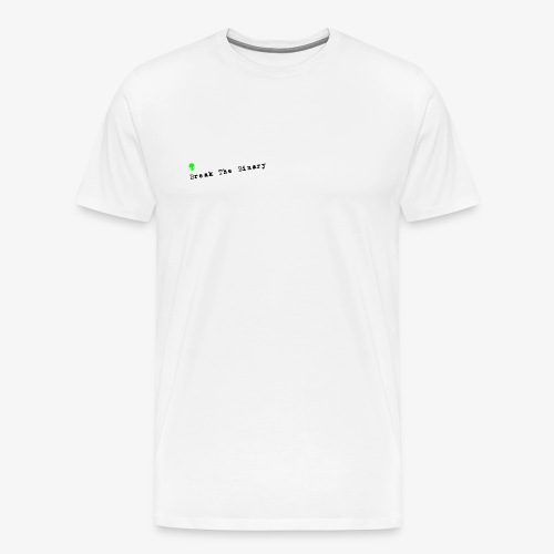 Break The Binary Alien - Men's Premium T-Shirt