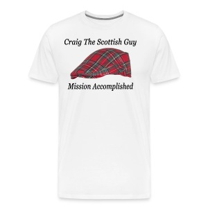 Red Tartan Hat - Men's Premium T-Shirt