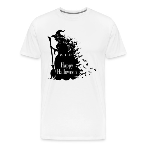 Happy Halloween Witch get back - Men's Premium T-Shirt