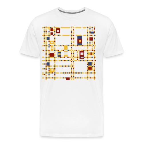 Broadway Boogie-Woogie by Piet Mondrian - Men's Premium T-Shirt