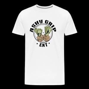 Ashy Grip Logo 2 - Men's Premium T-Shirt