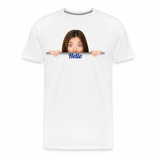Amazing Girl Saying Hello - Men's Premium T-Shirt