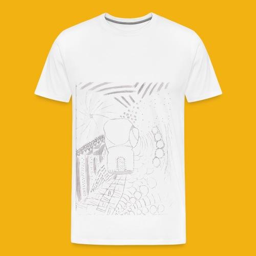 Messy Zentangle Boxing glove (TCOU) - Men's Premium T-Shirt