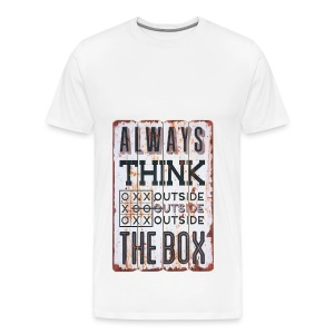Always think outside the box - Men's Premium T-Shirt