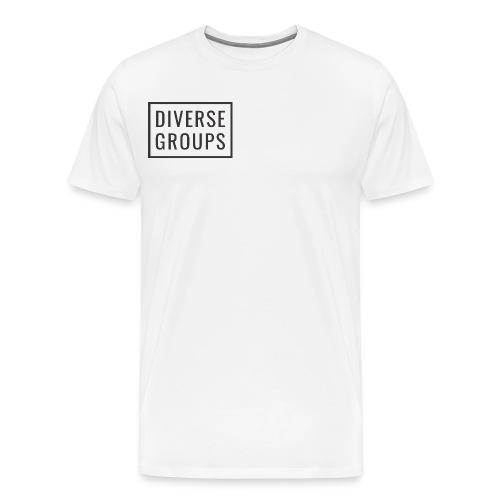 DG Logo White - Men's Premium T-Shirt