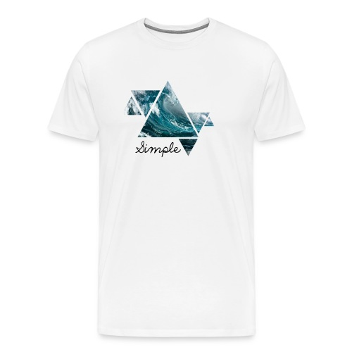 Wave logo(Simple) - Men's Premium T-Shirt