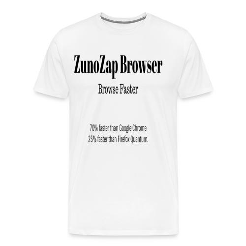 ZunoZap Browser - Men's Premium T-Shirt