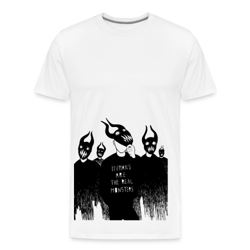 Humans are the real MONSTERS - Men's Premium T-Shirt