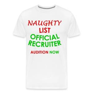 Naughty List Recruiter - Men's Premium T-Shirt
