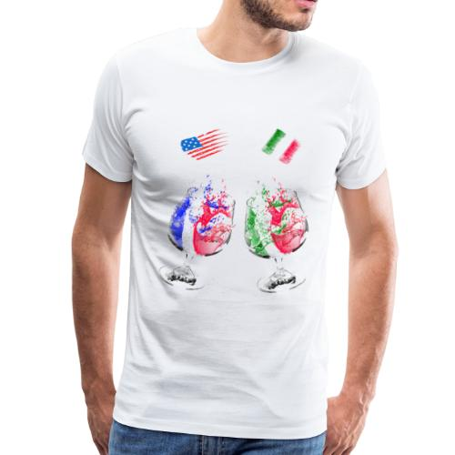 Mexico and USA flags - Men's Premium T-Shirt