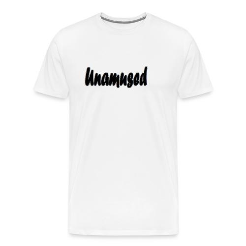 Unamused retro white logo - Men's Premium T-Shirt