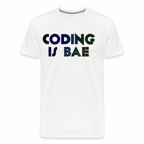 coding is bae - Men's Premium T-Shirt