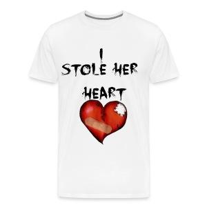 Your Heart is mine Couples Shirt - Men's Premium T-Shirt
