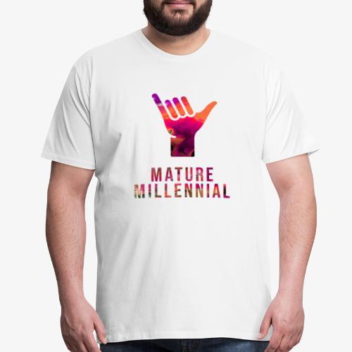 Mature Millennial Minimal Statement Shirt Abstract - Men's Premium T-Shirt