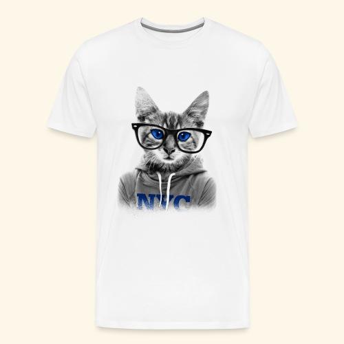 smart cat - Men's Premium T-Shirt