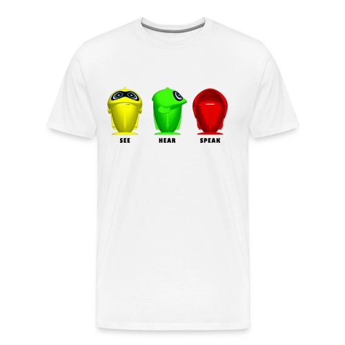 See Hear Speak - Men's Premium T-Shirt