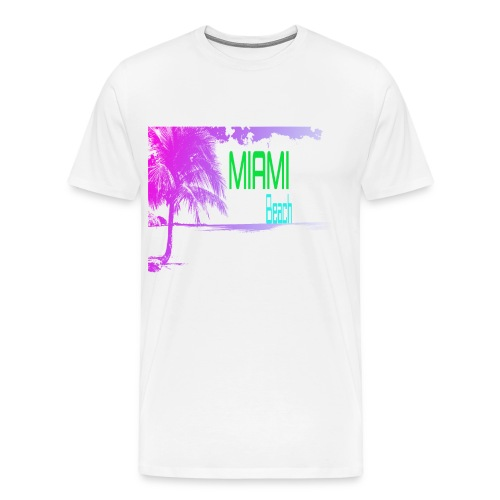 Miami Beach NEON - Men's Premium T-Shirt