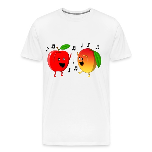 Dancing Apple and Mango - Men's Premium T-Shirt