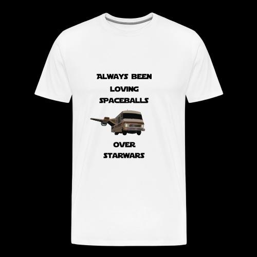 spaceballs over starwars - Men's Premium T-Shirt