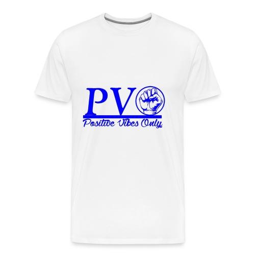 PVO_BlueStayStrongFist - Men's Premium T-Shirt
