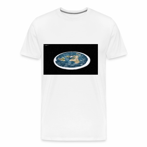 Flat Earth From Space - Men's Premium T-Shirt