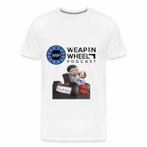 Weapon Wheel Podcast JayMegaGames T-Shirt - Men's Premium T-Shirt