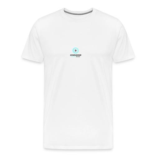 Lit DomDaBomb Logo For WHITE or Light COLORS Only - Men's Premium T-Shirt