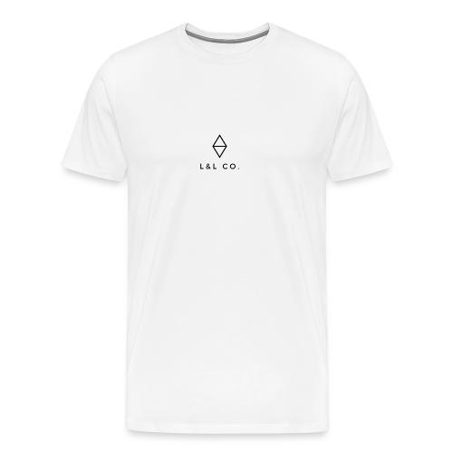 L & L minimalist logo - Men's Premium T-Shirt