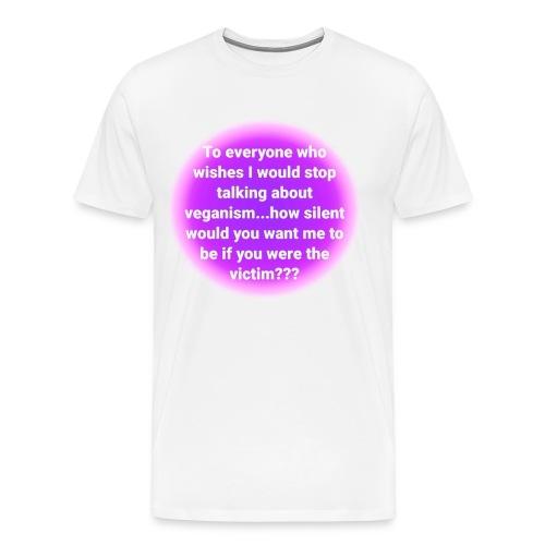 vegan quote 1 - Men's Premium T-Shirt