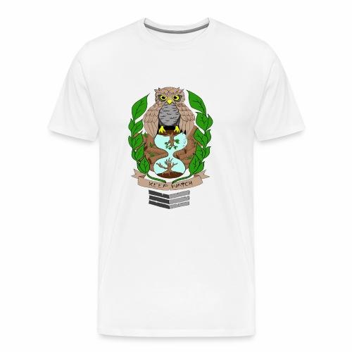 owl hourglass - Men's Premium T-Shirt