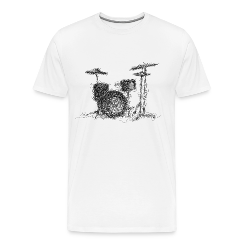 Drums scribble - Men's Premium T-Shirt