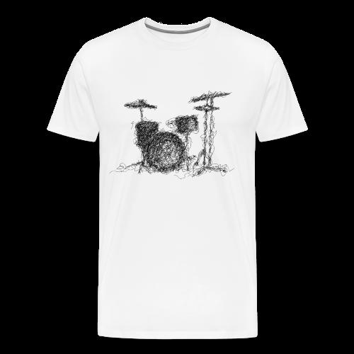 Drums scribble - Men's Premium T-Shirt