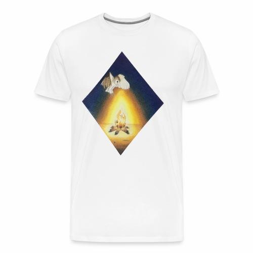 Owl by Firelight - Men's Premium T-Shirt
